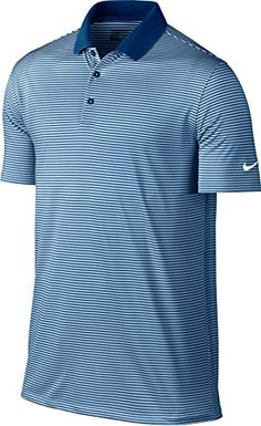 2ccde2490313a7 CHECK OUT THE Nike Victory Mini Stripe Golf Polo 2017 Blue Jay Hydrogen  Blue