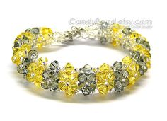 Swarovski Bracelet Luxurious Light Yellow and Black Swarovski