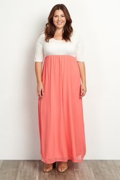 9fa05feed36f4 Tall Light Pink Chiffon Colorblock Maternity Maxi Dress