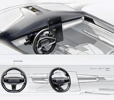 Car Interior Sketch, Car Interior Design, Car Design Sketch, Interior Concept, Car Sketch, Automotive Design, Interior Architecture, Interior Rendering, Transportation Design