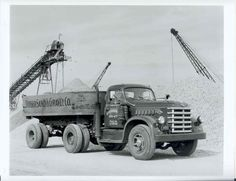 1951 Diamond T 700 Tractor Dump Trailer Truck Photo u664-41PBY6