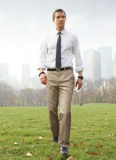 Dress shirt color with khaki pants