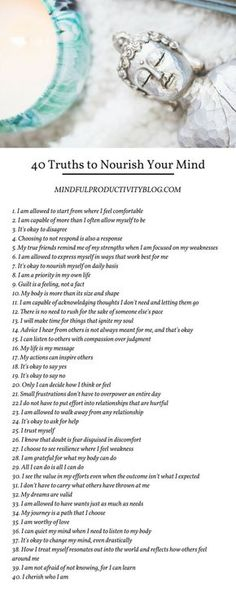40 Truths to Nourish Your Mind