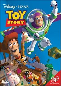 In Toy Story became the first full length CG film. Through the company Pixar, Toy Story was a box office hit and created a revolution in animation by replacing hand drawn images to computer generated models. Film Pixar, Pixar Movies, Kid Movies, Family Movies, Great Movies, Movies And Tv Shows, Animation Movies, Animation Studios, Awesome Movies