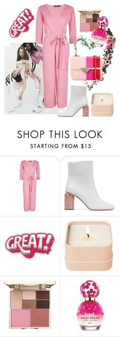 """""""Spring... (pink mode)"""" by chambiewonder ❤ liked on Polyvore featuring Boohoo, Acne Studios, Anya Hindmarch, Henri Bendel, Stila and Marc Jacobs"""