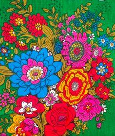 70's florals, print, pattern and colours. We love a colour clash!