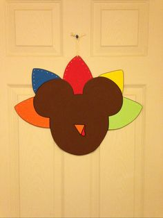 turkey+mickey+mouse++thanksgiving+door+or+wall+by+PlayfulYardArt,+$24.99
