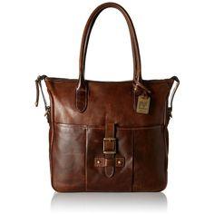 Frye Parker Tote Shoulder Bag ($373) ❤ liked on Polyvore featuring bags, handbags, shoulder bags, brown leather handbags, brown leather crossbody, leather purse, crossbody purse and crossbody handbags