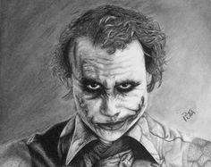 Heath ledger joker by meralc pencil drawing 2017 [2567  2036]