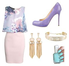 """"""""""" by camille-cizmic ❤ liked on Polyvore featuring Boohoo, Christian Louboutin and Essie"""