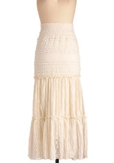 Beignet Beauty Skirt. This would be fun to wear plus it has a stretchy waist!