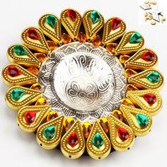 Golden Floating Diya - Online Shopping for Diyas and Lights by Ghasitaram Gifts
