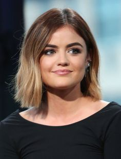 Here are Lucy Hale's best hair moments she's had throughout the years. Lucy Hale Haircut, Lucy Hale Short Hair, Lucy Hale Blonde, Ombré Hair, Hair Dos, Pelo Midi, Medium Hair Styles, Short Hair Styles, Hair Transformation
