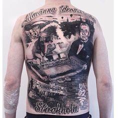 A back piece with AIK theme