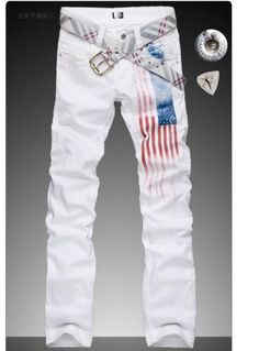 127.40$  Watch now - http://ali4qo.worldwells.pw/go.php?t=1124029933 - Spike ! High-end version designer jeans for the mens casual summer spring famous brand men American flag jean straight trousers
