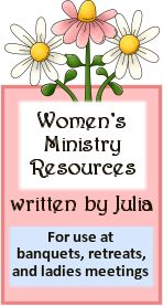 Women's Ministry Resources can be modified to meet the needs of young girls for church groups.