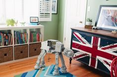 cute boys room dresser re purposed from craigslist...why don't i ever have such luck?