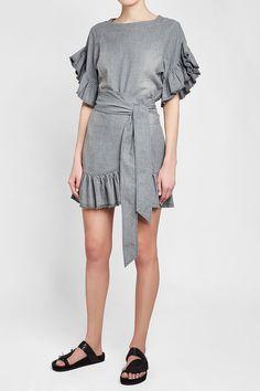 ISABEL MARANT ÉTOILE - Lelicia Cotton Dress | STYLEBOP Grey Fashion, Isabel Marant, Cotton Dresses, Buy Now, Beautiful Dresses, Grey Style, Rompers, Shirt Dress, Shirts