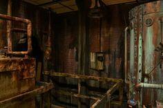 Haunted house boiler room detail