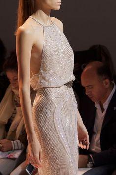 Beautiful beaded halter dress