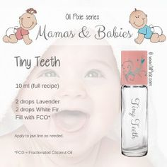 Tiny Teeth blend for babies essential oils