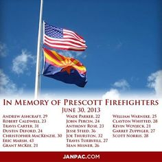 The first official funeral service to remember the 19 firefighters who lost their lives in the Yarnell Hill Fire will take place on Tuesday, July 9, 2013 in Prescott Valley. http://www.kpho.com/story/22761652/funeral-services-planned-for-19-fallen-firefighters