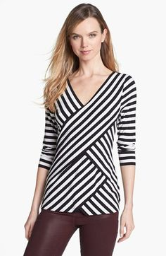 Vince Camuto Tiered Stripe Top | Nordstrom