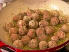 Turkey Meatballs on a Bed of Leeks - Under The Tuscan Gun
