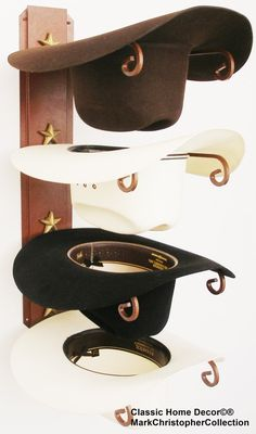 5ee03ef459d Cowboy Hat Holder Rust with Gold Stars 664 CT USA