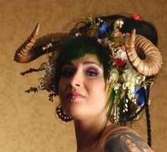 APPROPRIATELY PAGAN Taurus head dress .....