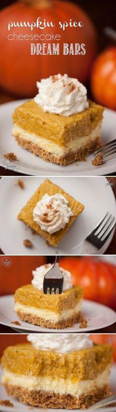 These Pumpkin Spice Cheesecake Dream Bars have a Pumpkin Spice Mini ...