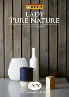 """Cover of """"Jotun LADY Pure Nature fargekart"""" Jotun Lady, Home And Living, Mineral, Make It Simple, Urban, Pure Products, Stone, Nature, Safari"""