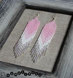 Long earrings Beaded earrings native earrings seed bead
