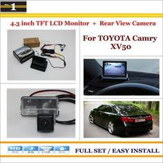 """Auto Back UP Reverse Camera + 4.3"""" Color LCD Monitor = 2 in 1 Rearview Parking System - For Toyota Camry XV50 2012~2015"""