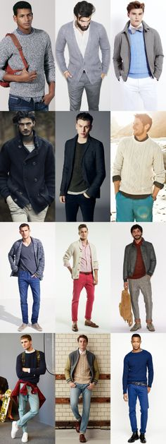 Men's Chunky Knitwear - Transitional Season Outfit Inspiration Lookbook