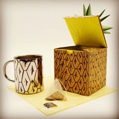 Organic Pineapple Tea & Mug Packaging on Behance