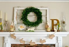 Interior How To Decorate A Mantle By Adding A Wreath Accent At The Top Of The Fireplace How to Decorate a Mantle Properly