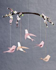 bird mobile: nursery