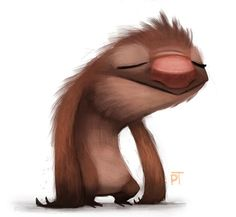 DAY How I feel after getting home lol by Cryptid-Creations Just gunna rest a bit and I'll start doing new things. Tired of running around in circles art-wise. Cute Animal Illustration, Cute Animal Drawings, Cute Drawings, Illustration Art, Illustrations, Monster Illustration, Art Fantaisiste, Circle Art, Cute Sloth
