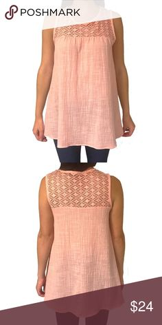 1f1a9b596f047 ... 🆕 Mai Soli - Pink Blush Sleeveless Lace Tunic Top You ll fall in love  with this sweet top! •Cool
