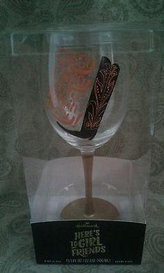 Hallmark wine glass SASSY CLASSY STILL KICKIN ASSY!