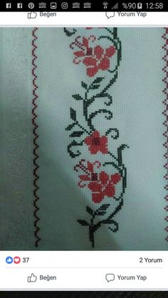 Diy And Crafts, Embroidered Towels, Cross Stitch Rose, Hand Stitching, Herb, Hand Embroidery Stitches, Cross Stitch Embroidery, Joy, Cross Stitch Samplers