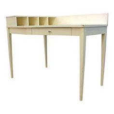 Mid-Century Danish Modern White Paul McCobb Planner Group Corner Desk