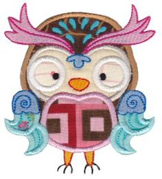 Embroidery | Free Machine Embroidery Designs | Bunnycup Embroidery | What A Hoot Applique