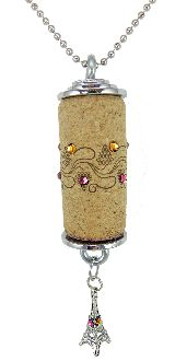 corkdazzle.com Eiffel Tower Charm. Very cool use of a cork.
