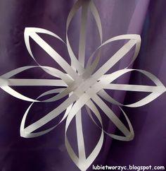 Lubię Tworzyć: Świąteczna gwiazdka z pasków papieru
