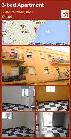 3-bed Apartment in Alfafar, Valencia, Spain ►€74,800 #PropertyForSaleInSpain