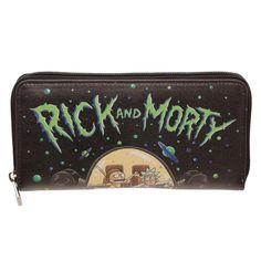 NEW OFFICIAL RICK /& MORTY DRUNK IN CHARGE SPACE CRUISER BLACK COIN /& CARD PURSE