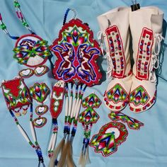 #SHAWNEEDESIGNZ  www.shawneedesignz.com Beautiful  additions to our southern buckskin regalia... commissioned order
