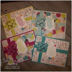 Toni Tessler (tonistamps) Independent Stampin Up Demonstrator. Picture Perfect Birthday suite - papers and stamps. Birthday cards.